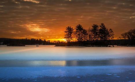 Sunrise over the frozen lake by David D | My Photo | Scoop.it