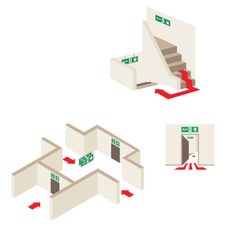 The correct position for fire exit signs | Safety Signs | Scoop.it