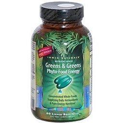 Irwin Naturals Greens and Greens Phyto-Food Energy -- 60 Softgels | Herbal Supplements Reviews | Scoop.it