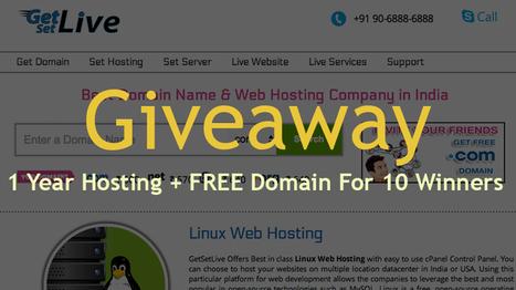 Giveaway: 1 Year Hosting + FREE Domain For 10 Winners   Blogging, SEO, WordPress   Scoop.it