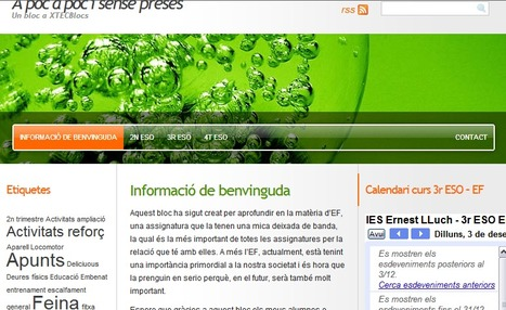 Mi nuevo Blog de EF - 3º ESO | TIC y EF | Scoop.it