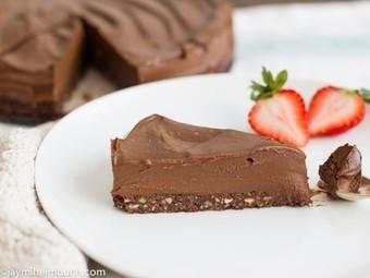 Chilled double chocolate torte with pecan crust [Vegan, Raw] | My Vegan recipes | Scoop.it