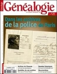 La Revue française de Généalogie N°204 Dans les archives de la police de Paris | RFGenealogie.com | Nos Racines | Scoop.it