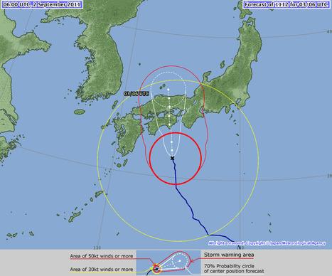 [point météo] Dans l'oeil du typhon | Japon : séisme, tsunami & conséquences | Scoop.it