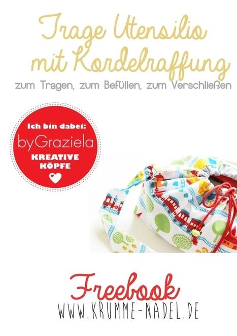 Krumme-Nadel.de: Trage Utensilio mit Kordelraffung - Freebook byGraziela [Kreative Köpfe]   Nähen   Scoop.it