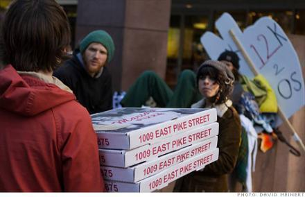Occupy Seattle, get free pizza | KPLU News | Occupy The Northwest | Scoop.it