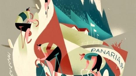 Los ciclistas cubistas y vintage de Riccardo Guasco | Movimiento urbano | Scoop.it