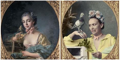 10 instagrameurs réinterprètent les oeuvres d'art des musées parisiens | Arts et FLE | Scoop.it