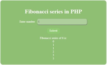 PHP, MySQL, JS, jQuery, Ajax, .htaccess,robots.txt,phponwebsites: Fibonacci series of given number in PHP | phponwebsites | Scoop.it