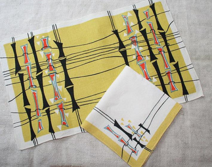 1950s table linen napkin | Antiques & Vintage Collectibles | Scoop.it