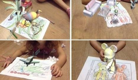 Nuevo juego de Realidad Aumentada para niños: dibujos de colores que cobran vida | centre creativitat cultural | Scoop.it