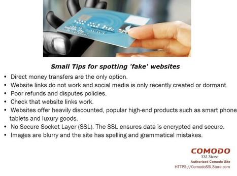 Small Tips for spotting 'fake' websites | ComodoSSLStore | Saint Petersburg | Florida | Comodo SSL | Scoop.it