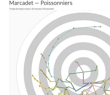 Plan du métro interactif | informational landscapes | Scoop.it
