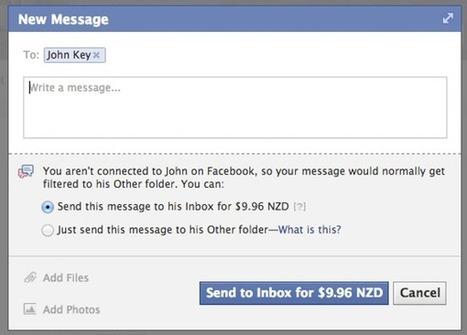 Facebook déploie progressivement le paiement de certains messages - Le Monde Informatique | Actu webmarketing et marketing mobile | Scoop.it