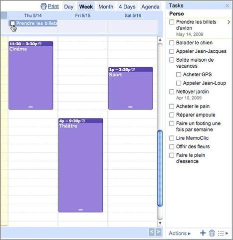 Google Agenda : les meilleures fonctions pour votre calendrier | Le Top des Applications Web et Logiciels Gratuits | Scoop.it