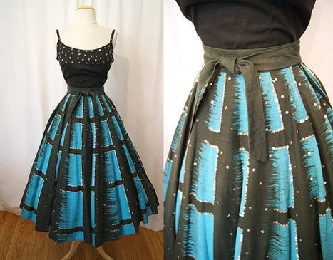 1950's hand painted circle skirt   Making something from nothing   Scoop.it