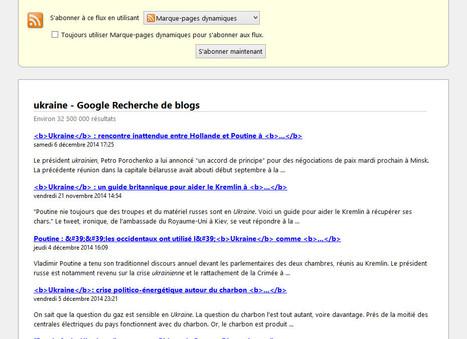 Google recherche de blogs : les fils RSS sont toujours actifs | Mon panier veille et curation | Scoop.it