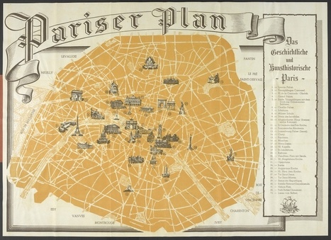A Tourist Map of Occupied Paris, Issued to German Soldiers During WWII - Slate Magazine (blog) | Occupied Paris, 1940-44 | Scoop.it