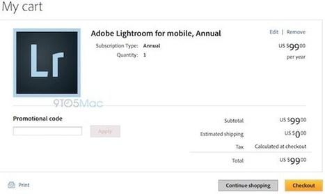 Lightroom pour iPad prendra la forme d'un abonnement mensuel | Apple : Mac, iPhone, iPad | Scoop.it