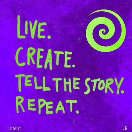 Live life fully, create daily, tell your story; repeat ~ #intent card 2/365 | Art Therapy in Action | Scoop.it