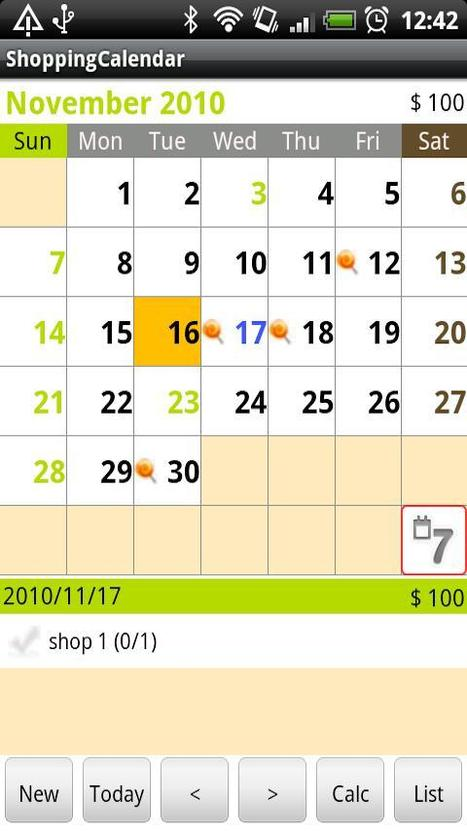 ShoppingCalendar gratuit - Android Market | Android Apps | Scoop.it