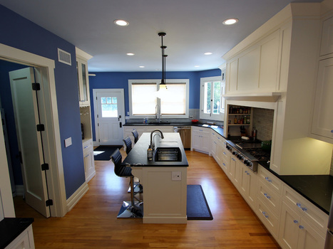 1908 Historic Wagner house in Placentia with White and Blue Transitional U-Shaped Kitchen | kitchen remodeling orange county | Scoop.it