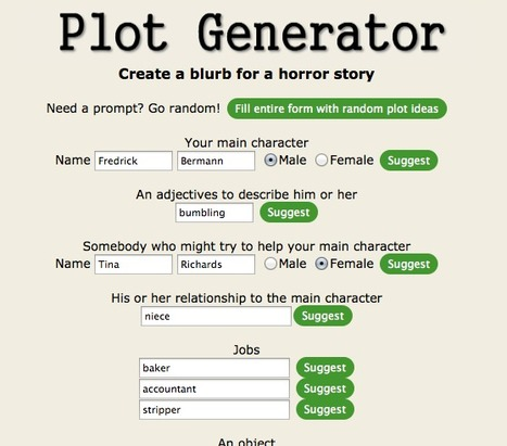 Plot Generator | Digital Storytelling | Scoop.it