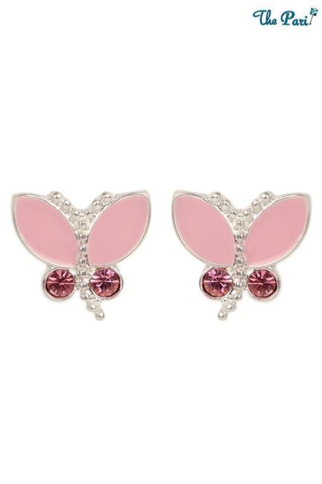 Pari Dainty Pink Butterfly Earrings | Online Shopping | Scoop.it