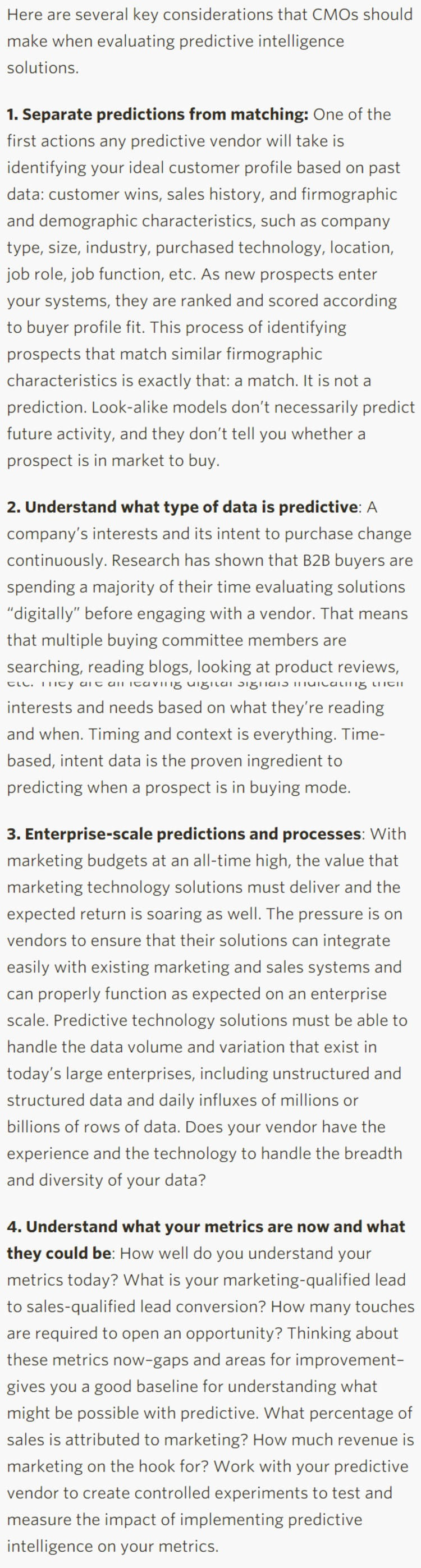 How To Pick A Predictive Intelligence Solution - CMO.com | The Marketing Technology Alert | Scoop.it