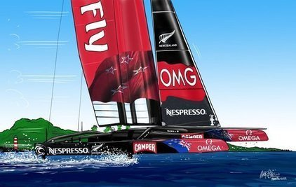 Mark O'Brien's America's Cup cartoons | #AC34 | Scoop.it