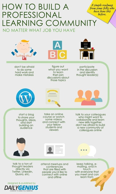 10 Tips To Build Your Professional Learning Community Infographic | social media infographics and typography | Scoop.it