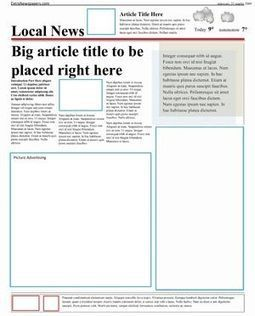 Free Newspaper Template Pack For Word. Perfect For School | Students with dyslexia & ADHD in independent and public schools | Scoop.it