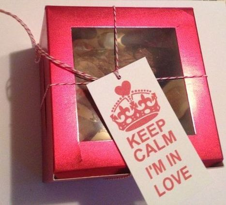 Food Boxes red metallic cookie box candy party favors Valentines Day gifts | Candy Buffet Weddings, Events, Food Station Buffets and Tea Parties | Scoop.it