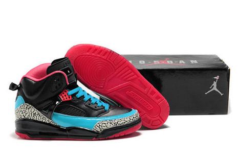 Jordan Spizike 3.5 Black/Grey/Sky Blue Leather | fashion collection | Scoop.it