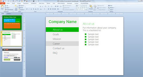 Windows 8 PowerPoint Template | Free PowerPoint Templates | Vfx | Scoop.it