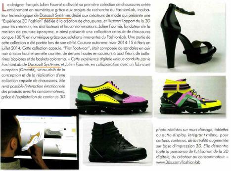 Julien Fournié signe une première collection de chaussures conçue 100% numériquement, avec le FashionLab de Dassault Systèmes   FashionLab   Scoop.it
