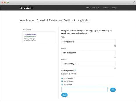 QuickMVP: Software for Customer Validation & Business Viability Testing | Start Up Vault | Scoop.it