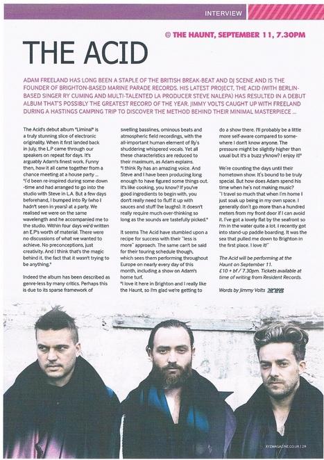 The Acid Feature    XYZ Magazine September 2014   Adam Freeland   Scoop.it