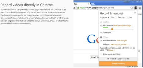 Screencastify - A Video Screen Recorder for Chrome | BYOD untuk guru-2 abad ke-21 | Scoop.it