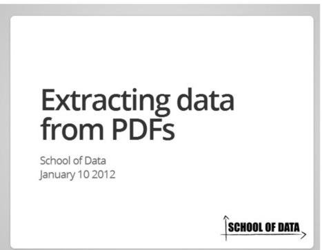 Obteniendo datos de los PDF   Escuela De Datos - evidencia es poder   #OpenData   #OpenGov   #OpenAccess   #OpenScience   Scoop.it