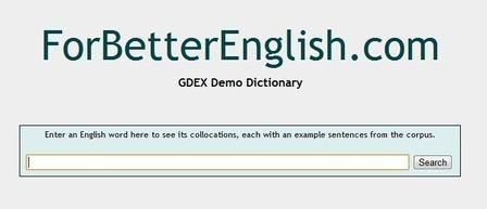 The GDEX Demo Dictionary | Collocations.Corpora.Concordancers. | Scoop.it