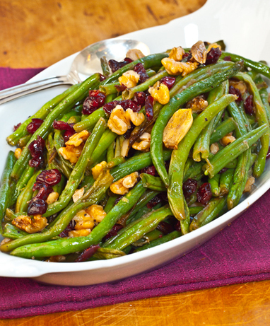 Roasted Green Beans with Cranberries and Walnuts | Yums | Scoop.it