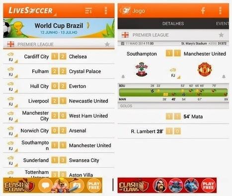 Conheça o LiveSoccer e confira os resultados do futebol no Android | Android Brasil Market | Scoop.it
