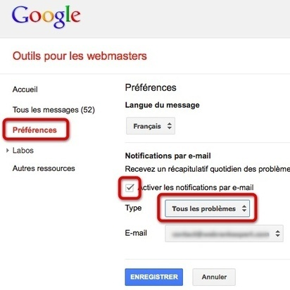 Aide sur les différents messages envoyés par Google Webmaster Tools   Référencement naturel - Astuces et conseils   Scoop.it