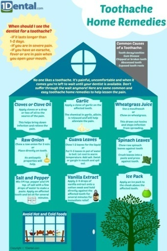 Toothache Home Remedies Infographic | Avant-garde Art & Design | Scoop.it