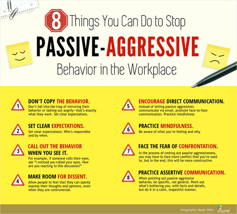 8 Things You Can Do to Stop Passive-Aggressive Behavior in the Workplace [Infographic | Quiz] | 21st Century Leadership | Scoop.it