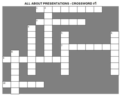 Presentation Crossword #1 | effective presentation | Scoop.it