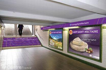 Paris : Une station de métro bientôt redécorée aux couleurs du Saint-nectaire | thevoiceofcheese | Scoop.it