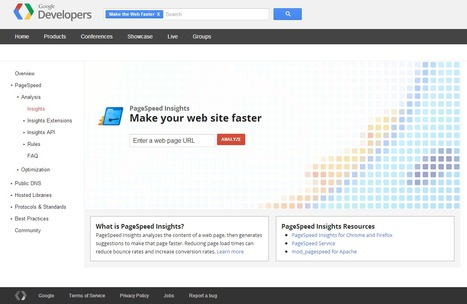 PageSpeed Insights — Make your web site faster | Time to Learn | Scoop.it