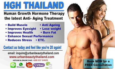 Human Growth Hormone Therapy - Urban Beauty Thailand | By Urban Beauty Thailand | CoolSculpting Zeltiq LOWEST Price Bangkok, Thailand for Sexier You - Liposuction, Vaser Lipo, Vaser Hi-def, Body Tightening Thailand | Scoop.it